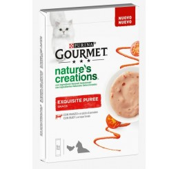 Purina Gourmet Nature's Creations Exquisite Puree 5x10 gr Manzo e Pomodoro