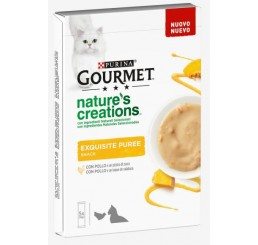Purina Gourmet Nature's Creations Exquisite Puree 5x10 gr Pollo e Zucca