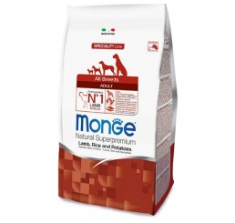 Monge Cane Adult All Breed Agnello Riso Patate 12 Kg