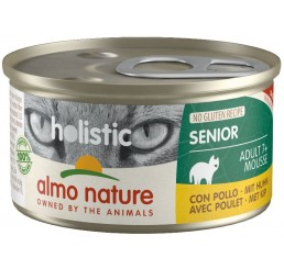 Almo Nature Gatto Holistic No Gluten Recipe Senior / Ricetta No Gluten Adult 7+ Mousse 85 gr con Pollo