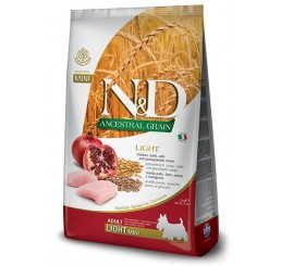 Farmina N&D Low Grain Mini & Medium Light Kg 2,5 Pollo, farro, avena e melograno