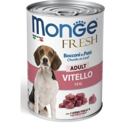 Monge Fresh Adulto gr 400 Bocconi in Paté con Vitello