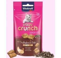 Vitakraft Snack Gatto Crispy Crunch Superfood Tacchino Chia 60 gr