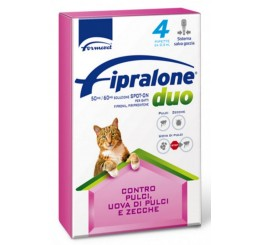 Formevet Fipralone Duo Spot on Antiparassitario per Gatti 4 Pipette da 0,5 ml