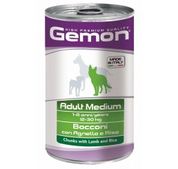 Gemon Cane Adult Medium Bocconi con Agnello e Riso  gr. 1250