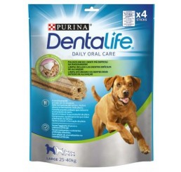 Purina Snack per Cane Dentalife Daily Orale Care Large in confezione da 115 gr, numero Sticks 4