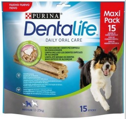 Purina Snack per Cane Dentalife Daily Orale Care Medium in confezione da 345gr, numero Sticks 15 - Maxi Pack