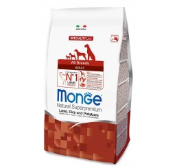 Monge Cane All Breed Adult 2,5 Kg Agnello, riso, patate