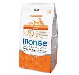 Monge Cane All Breed Adult 12 Kg Anatra, riso, patate