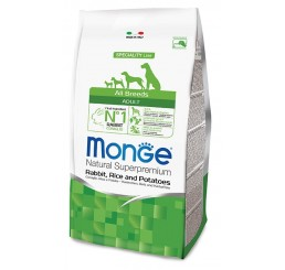 Monge Cane All Breed Adult 2,5 Kg Coniglio, riso, patate
