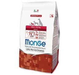 Monge Cane Mini Adult gr 800 Agnello, riso, patate