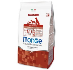 Monge Cane All Breed Puppy 2,5 Kg Agnello. riso