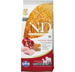Farmina N&D Low Grain pollo e melograno LIGHT Kg 12