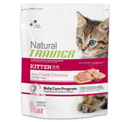 Trainer Natural Gatto Kitten Con Pollo Fresco Kg 1.5