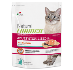 Trainer Natural Gatto Sterilised Con Salmone Kg 1.5