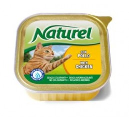 Naturel Gatto Vaschetta gr.100 Pollo