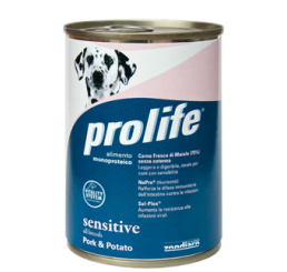 Prolife Cane Umido Sensitive Maiale Patate Gr. 400