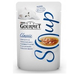 Gourmet Soup Filetti Tonno Naturale e Gamberi Inter Gr 40