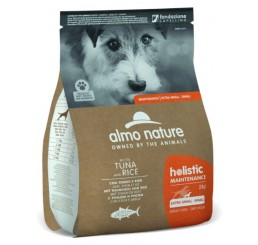 Almo Nature Cane Holistic ECO Kg 2 Adult Maintenance XSmall- Small/ XS - S con Tonno e Riso